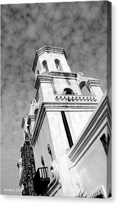 San Xavier Bell Tower Canvas Print by Dick Botkin