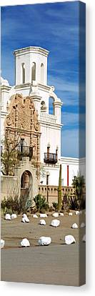San Xavier Del Bac Tucson Az Canvas Print by Panoramic Images
