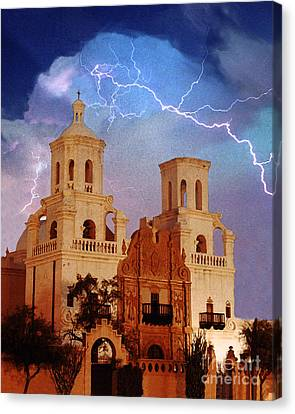 San Xavier Canvas Print by Jeanette Brown