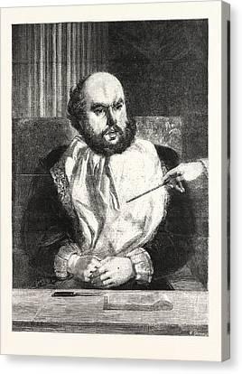 Sancho Panza, In The South Kensington Museum Uk Canvas Print