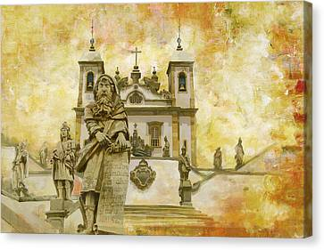 Sanctuary Of Bom Jesus Do Congonhas  Canvas Print by Catf