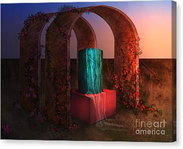 Sanctuary Of Light Canvas Print by Rosa Cobos