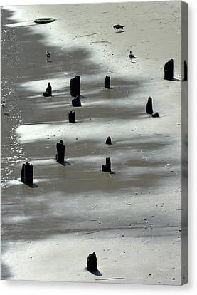 Sand Abstract Canvas Print by Deborah  Crew-Johnson