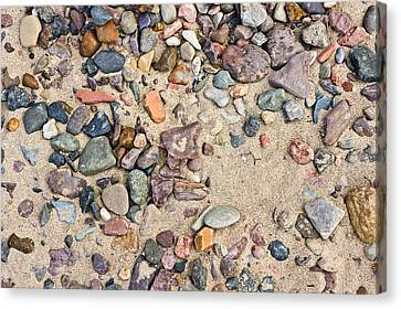 Sand And Pebbles Canvas Print by Tom Gowanlock