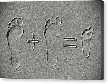 Trace Canvas Print - Sand Arithmetic by