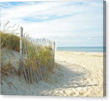 Sand Beach Ocean And Dunes Canvas Print by Brooke T Ryan