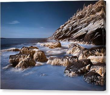 Canvas Print featuring the photograph Sand Beach by Steve Zimic