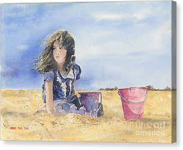 Sand Castle Dreams Canvas Print by Monte Toon