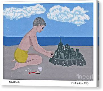 Sand Castle Canvas Print by Fred Jinkins
