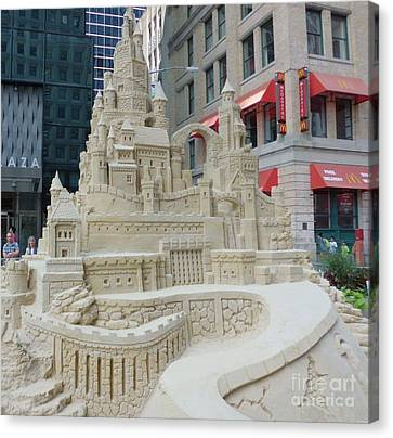 Sand Castle Canvas Print by James Dolan