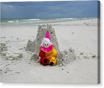 Sand Castle Jester Canvas Print by William Patrick