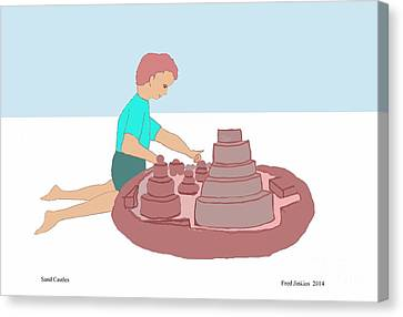 Sand Castles Canvas Print by Fred Jinkins