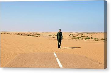 Sand-covered Road Canvas Print by Thierry Berrod, Mona Lisa Production