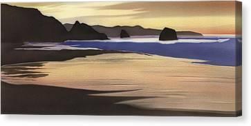 Sand Dollar Beach Canvas Print