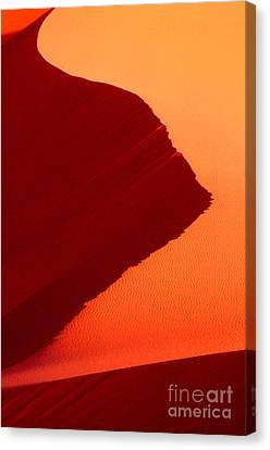 Canvas Print featuring the photograph Sand Dune Curves Coral Pink Sand Dunes Arizona by Dave Welling
