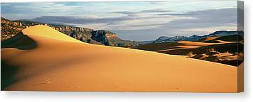 Coral Pink Sand Dunes Canvas Print - Sand Dunes In A Desert At Dusk, Coral by Panoramic Images