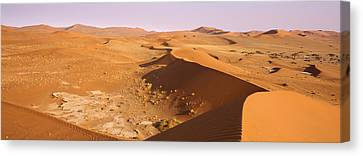 Sand Dunes In A Desert, Namib-naukluft Canvas Print by Panoramic Images