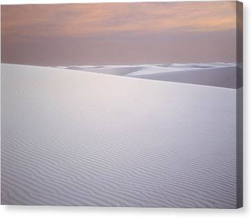 Sand Dunes Of Gypsum In The Morning Canvas Print
