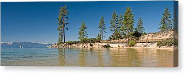 Sand Harbor At Morning, Lake Tahoe Canvas Print by Panoramic Images