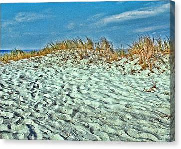 Sand In My Shoes Canvas Print by Oscar Alvarez Jr