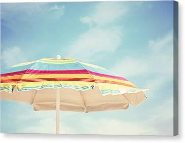 Sand In My Toes Canvas Print by Carolyn Cochrane