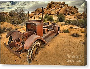 Sand In The Tires Canvas Print