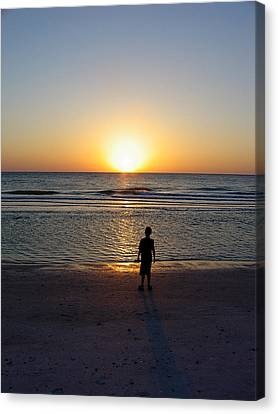 Canvas Print featuring the photograph Sand Key Sunset by David Nicholls