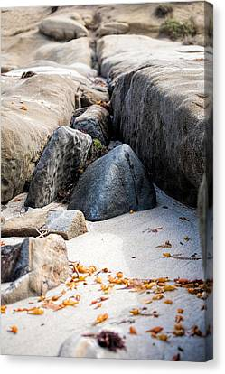 Sand Pyramids Canvas Print by Peter Tellone