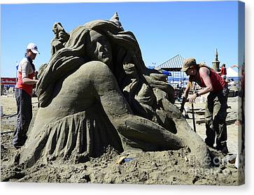 Sand Sculpture 1 Canvas Print by Bob Christopher