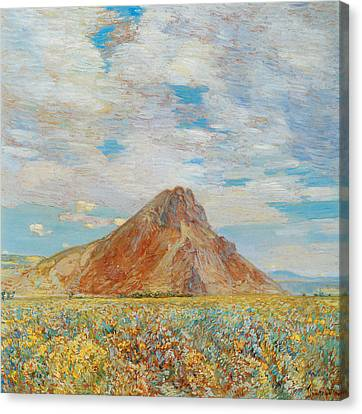 Sand Springs Butte Canvas Print by Childe Hassam
