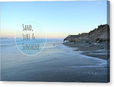 Sand Surf Sunshine Canvas Print by Robin Dickinson