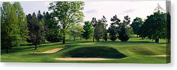 Maryland Canvas Print - Sand Traps On A Golf Course, Baltimore by Panoramic Images