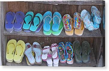 Sandals Canvas Print by Russell Smidt
