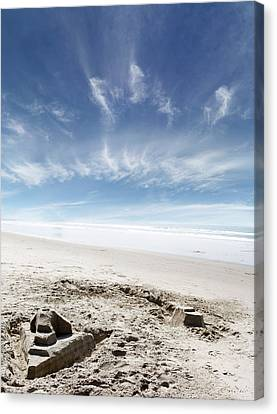 Sandcastle Canvas Print by Les Cunliffe