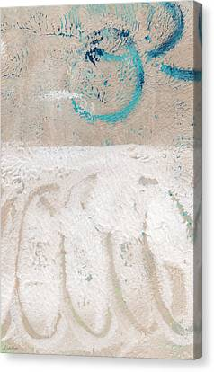 Sandcastles- Abstract Painting Canvas Print by Linda Woods