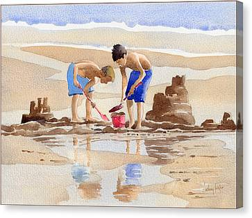 Sandcastles Canvas Print by Anthony Forster
