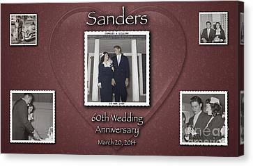 Sanders 60th Anniv Canvas Print by D Wallace
