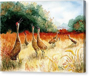 Sandhill Serenade Canvas Print by Marilyn Smith