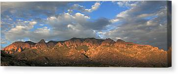 Sandia Crest At Sunset Canvas Print