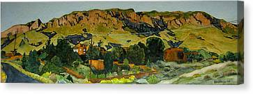 Canvas Print featuring the painting Sandia Heights by Jeffrey S Perrine