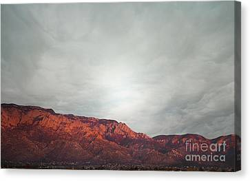 Sandia Watermelon Mountain Canvas Print by Andrea Hazel Ihlefeld