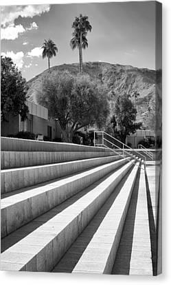 Sandpiper Stairs Bw Palm Desert Canvas Print by William Dey