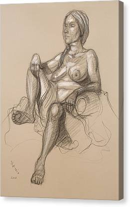 Sandra Reclining #1 Canvas Print