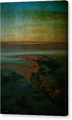 Canvas Print featuring the photograph Sands At Mount St Michael by Karo Evans