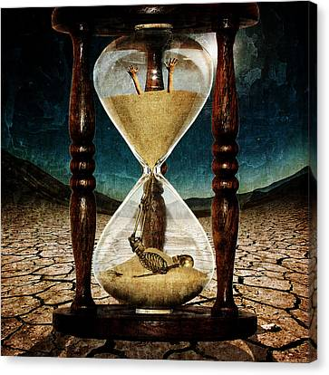 Unusual Canvas Print - Sands Of Time ... Memento Mori  by Marian Voicu