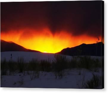 Sands Sunset  Canvas Print by Jessica Shelton