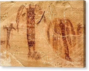 San Rafael Swell Canvas Print - Sandstone Angels - Buckhorn Wash Pictograph Panel - Utah by Gary Whitton