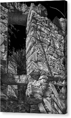 Sandstone Arch Jerome Black And White Canvas Print