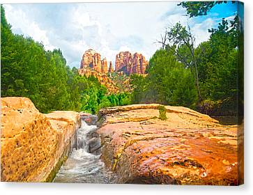 Sandstone Chute Oak Creek Sedona Canvas Print