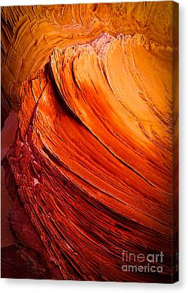 Sandstone Flakes Canvas Print by Inge Johnsson